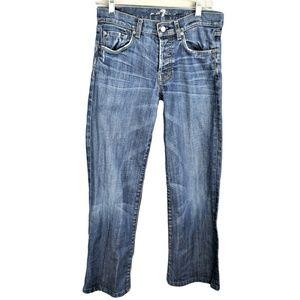 7 For All Mankind Women 28 Boyfriend Jeans Hemmed